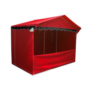 Prodejní stánek 3 x 2 m Jarmark - červený