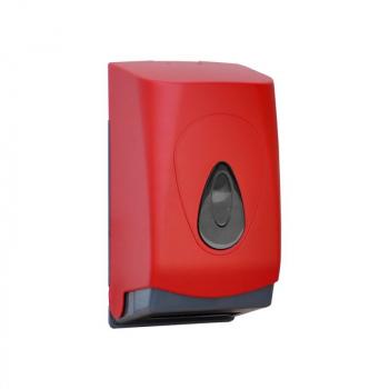 Zásobník na toaletní papír skládaný MERIDA UNIQUE RED LINE - lesk