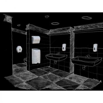 Zásobník na toaletní papír Mini MERIDA UNIQUE MARBLE LINE - lesk