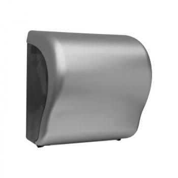 Mechanický podavač papírových ručníků v rolích Maxi UNIQUE SILVER LINE Lux Cut -mat