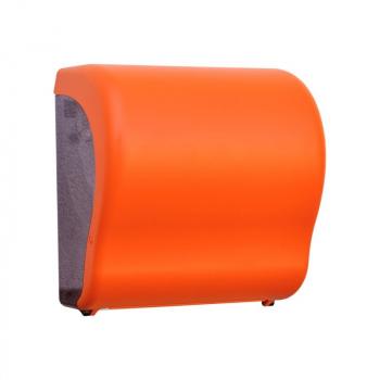 Mechanický podavač papírových ručníků v rolích Maxi UNIQUE ORANGE LINE Lux Cut -mat