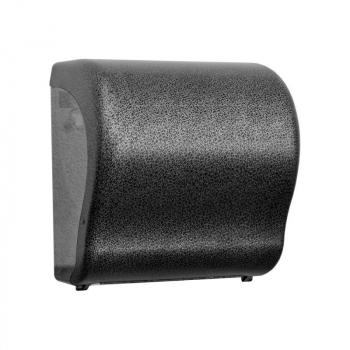 Mechanický podavač papírových ručníků v rolích Maxi UNIQUE GLAMOUR BLACK LINE Lux Cut-lesk
