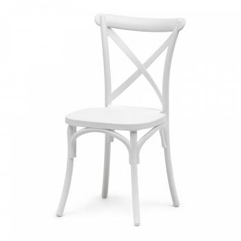 Banketová židle Crossback, bílá