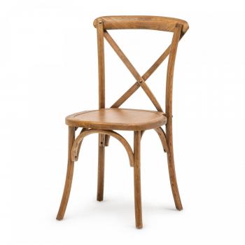 Banketová židle Crossback, dřevo, barva Antique