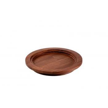 Talíř dřevo pr.23,1 cm, v3cm,ořech