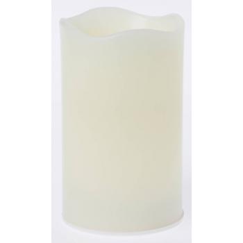 Sada LED svíček PILLAR 150x75 mm, bílá vnitřní