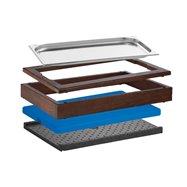 Bufetový modul Wood ICE 6,5 cm, tmavý