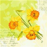 Ubrousek 33x33 cm 3 vrstvý SPRING FLOWERS