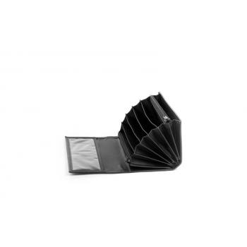 Peněženka číšnická 2 zip koženka 10x19x3