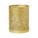 Svícen - materiál kov zlatá barva.Možnost použít čajové svíčky a led svíčky.