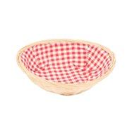 Košíček proutěná na pečivo oválný s látkou 24x7 cm