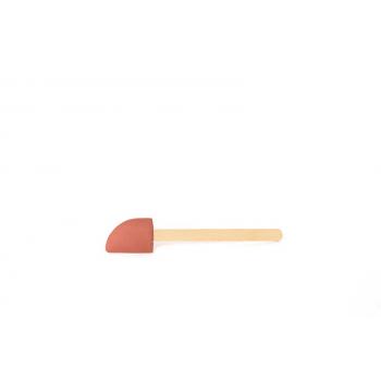 Gumová stěrka s dřevěnou rukojetí malá