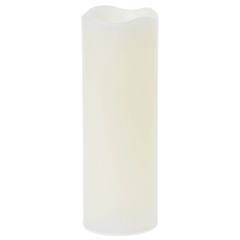 Sada LED svíček PILLAR 150x75 mm, bílá venkovní