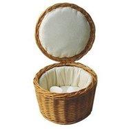 Košík Rattan s textilní vložkou na vejce průměr 26cm výška 17cm